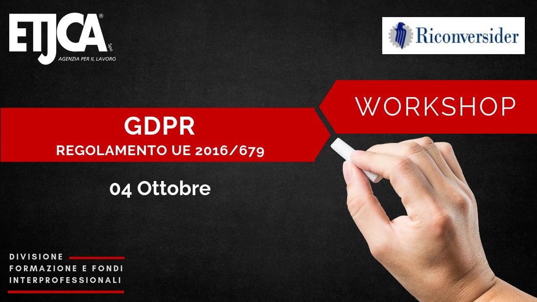 Etjca Agenzia per il lavoro Workshop GDPR